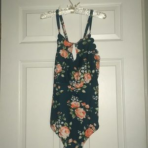 NWT Cupshe One Piece Floral Suit